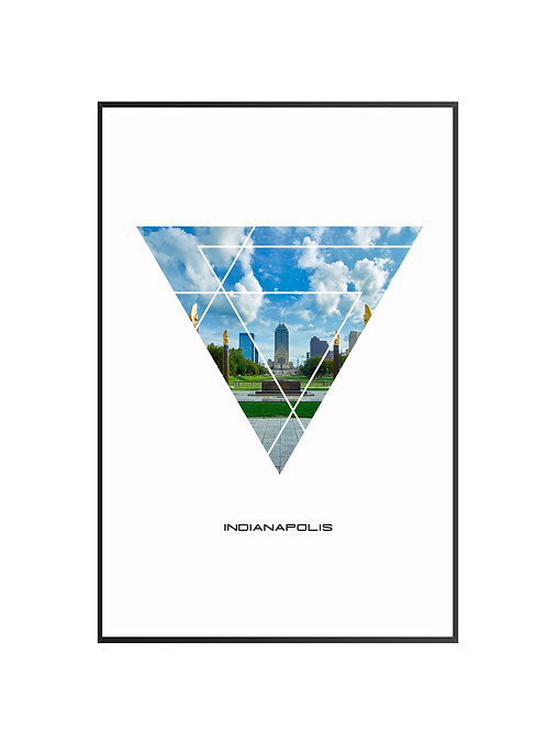 "Indianapolis Triangular Poster 24""x36"""