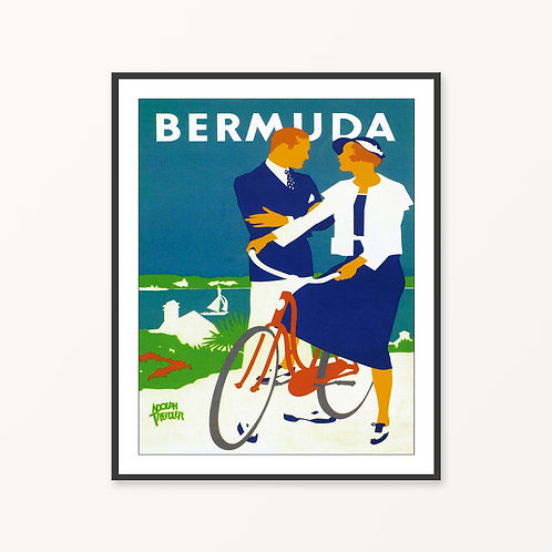 Bermuda Vintage Travel Poster