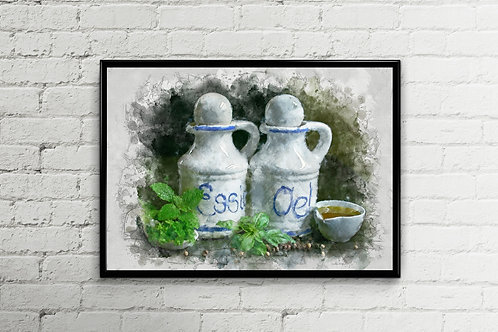 Oil and Vinegar Large Wall Art