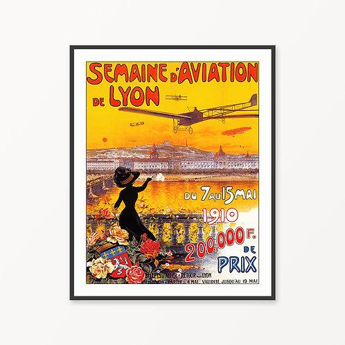 Lyon Vintage Travel Poster