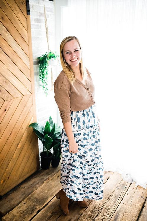 Midi Ruffle Skirt