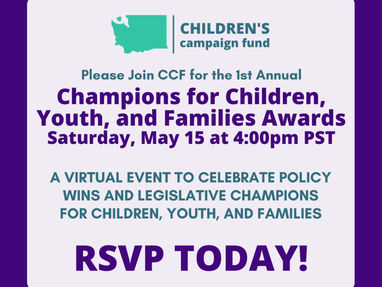 Don't wait: register for the 1st Annual Champions for Children, Youth, and Families Awards on 5/15!