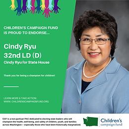Rep. Cindy Ryu (D)