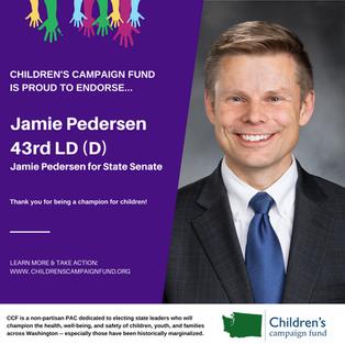 Jamie Pedersen 43rd LD-D)