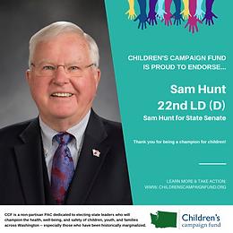 Sen. Sam Hunt (D)