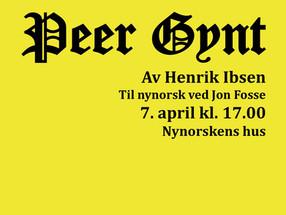 Peer Gynt - til nynorsk ved Jon Fosse
