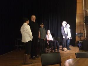 Frå prøven på Det Norske Teatret