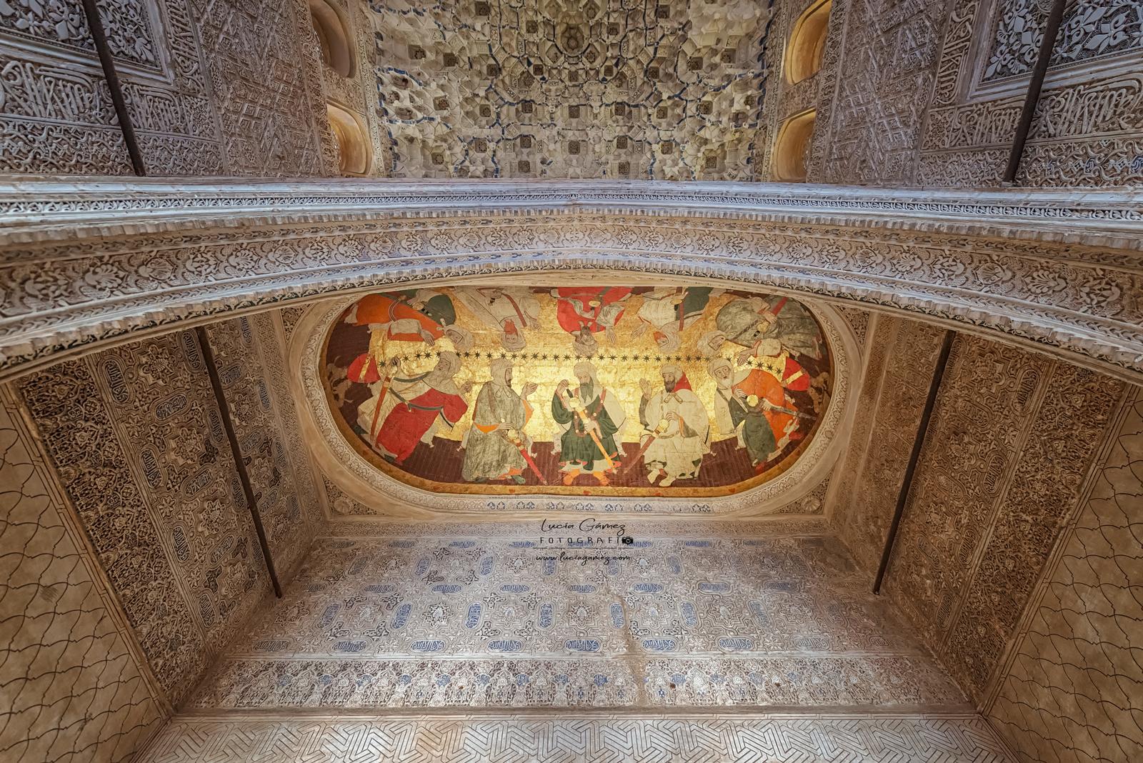 Pintura en cuero de la Sala de los Reyes. Alhambra