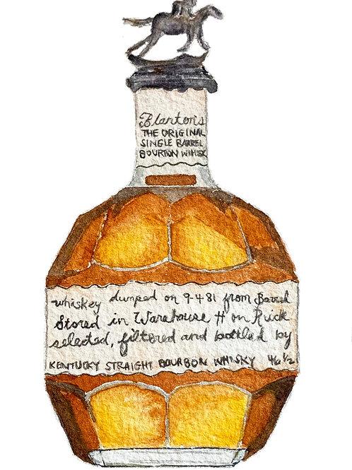 Bourbon Bottle Print