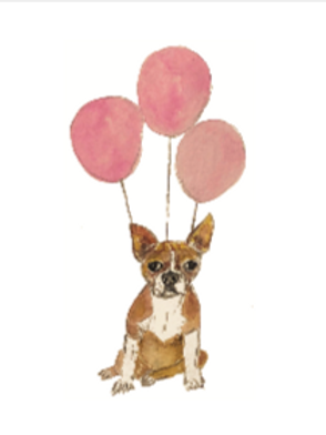 Dog with balloons 1