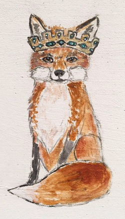 Fox with Crown