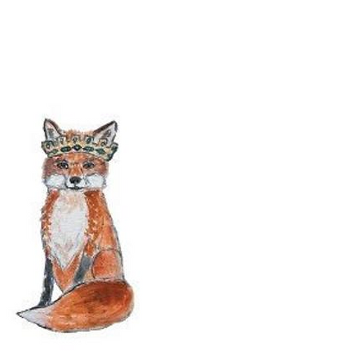 Fox with Crown Stationery