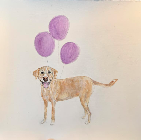 Bailey with Balloons