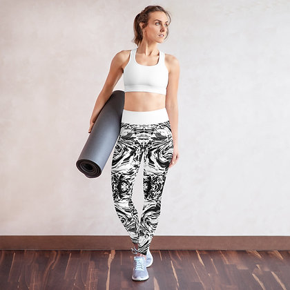 Black Steel Yoga Leggings