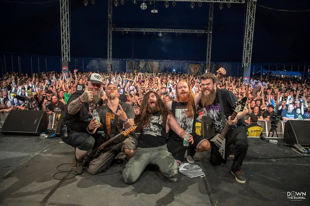 Photo of band at Bloodstock Festival 2019 by Down The Barrel Photography