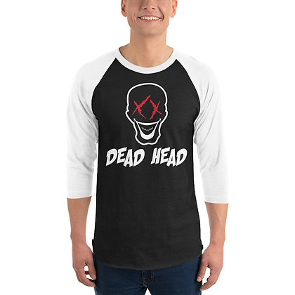 Dead Head - 3/4 sleeve raglan shirt