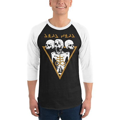 Cyber Death - 3/4 sleeve raglan shirt