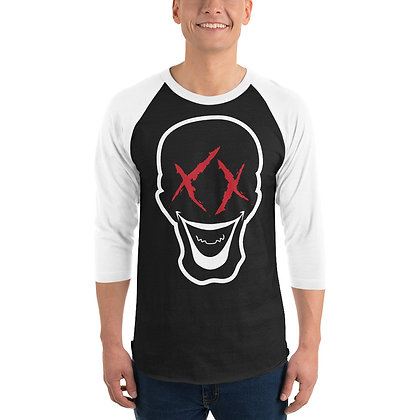 Dead Head Face - 3/4 sleeve raglan shirt