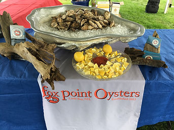 Fox Point Oysters catered raw bar, Fox Point Oysters shucks, NH shucks, Live free and shuck, shuck oysters for me, shellfish catering, catered oysters, shucked oysters, oyster party, party with FPO, party with Fox Point Oysters