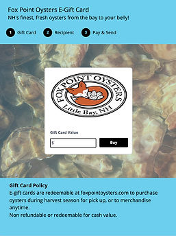 Fox Point Oysters E Gift Card