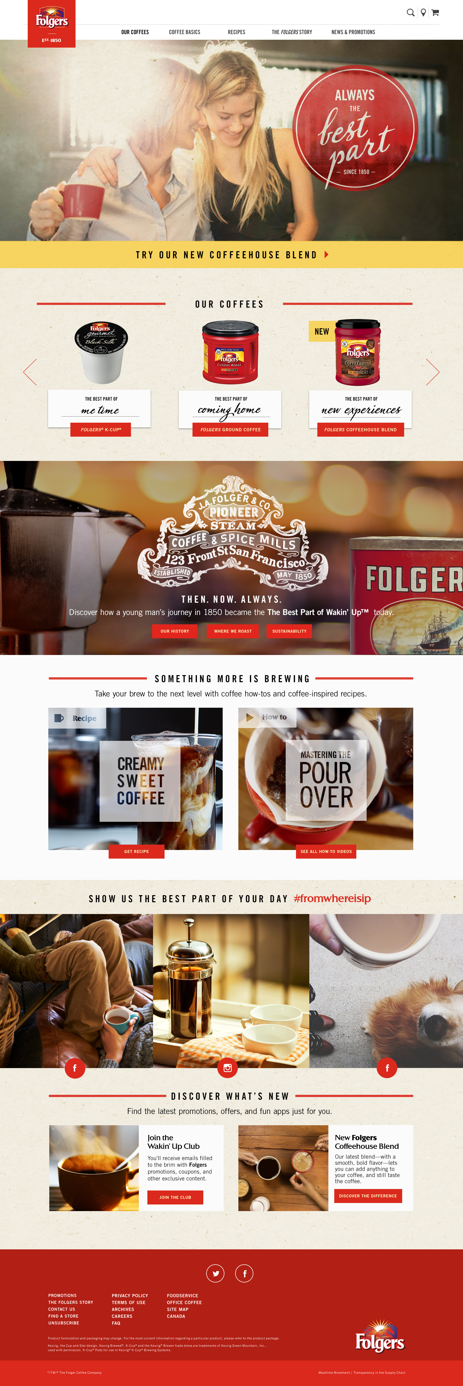 Folgers Home Page