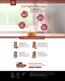Folgers Iced Cafe Splash Page