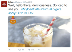 Folgers Iced Cafe Twitter Post