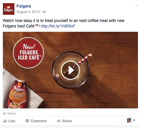 Folgers Iced Cafe Video Post