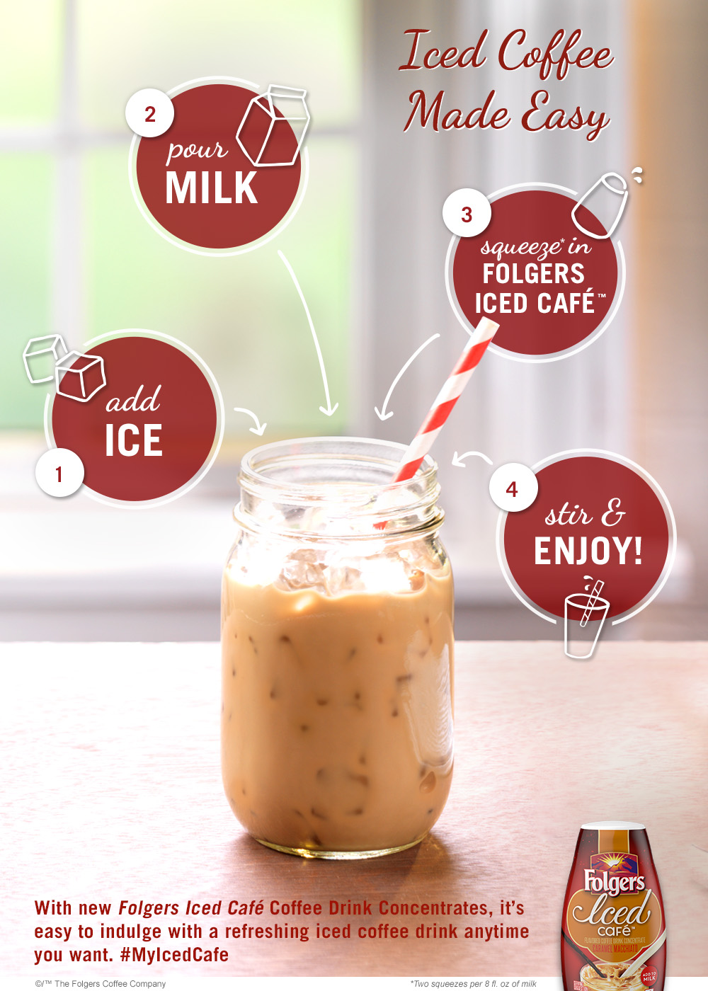 Folgers Iced Cafe Pinterest Pin