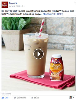 Folgers Iced Cafe Facebook Post