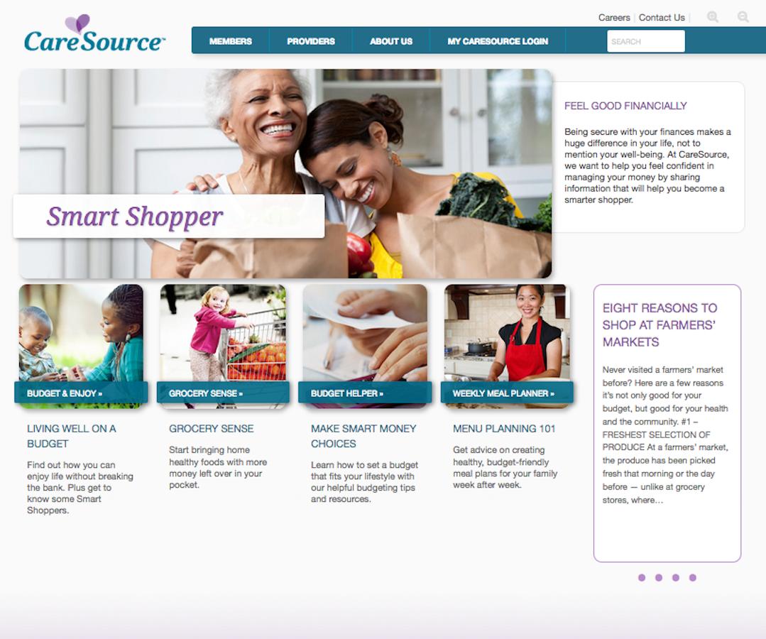 CareSource Smart Shopper Section