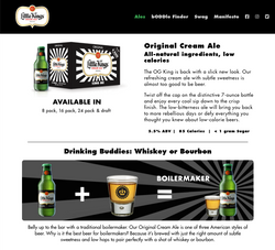 Little Kings website product page