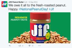 Jif Peanut Butter Twitter Post