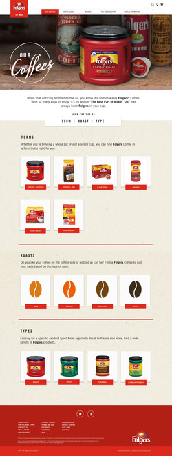 Folgers Product Section