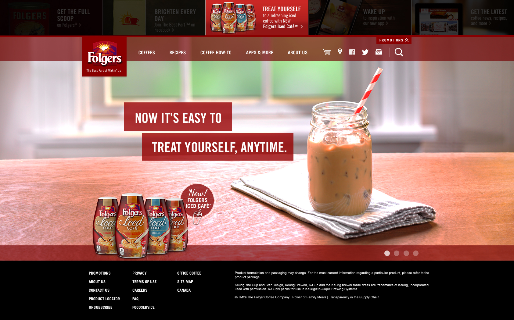 Folgers Iced Cafe Homepage Update