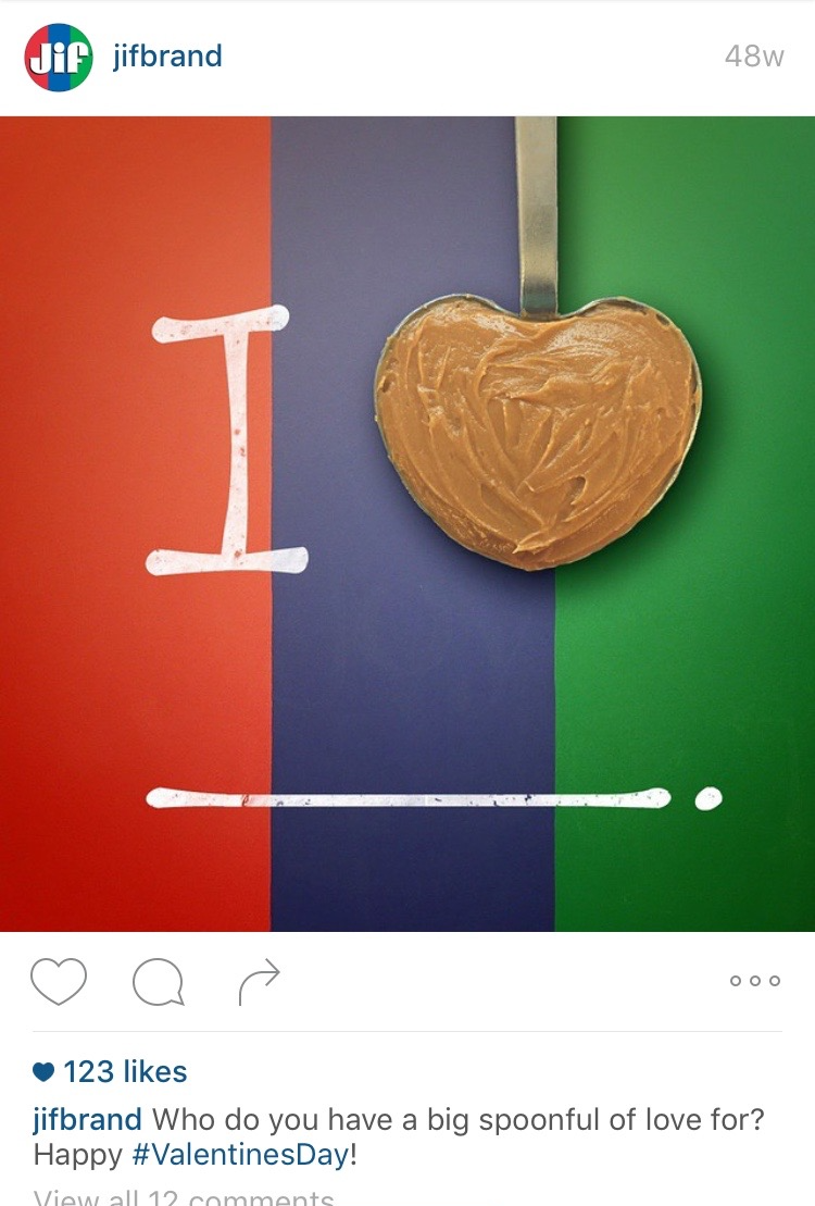 Jif Peanut Butter Instagram Post