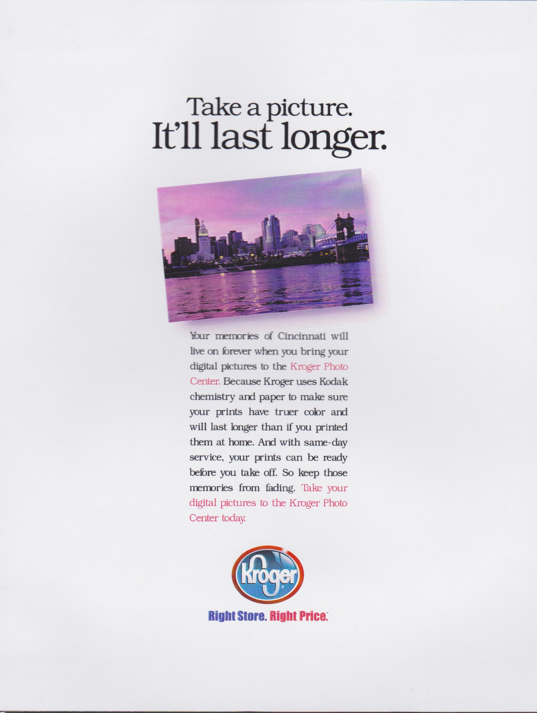 Kroger Photo Print Ad