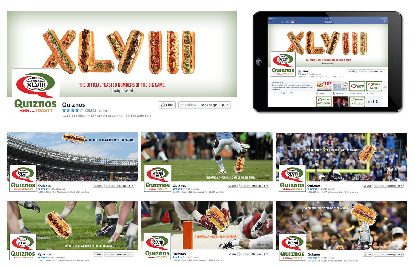 Superbowl XLVIII Facebook Feed