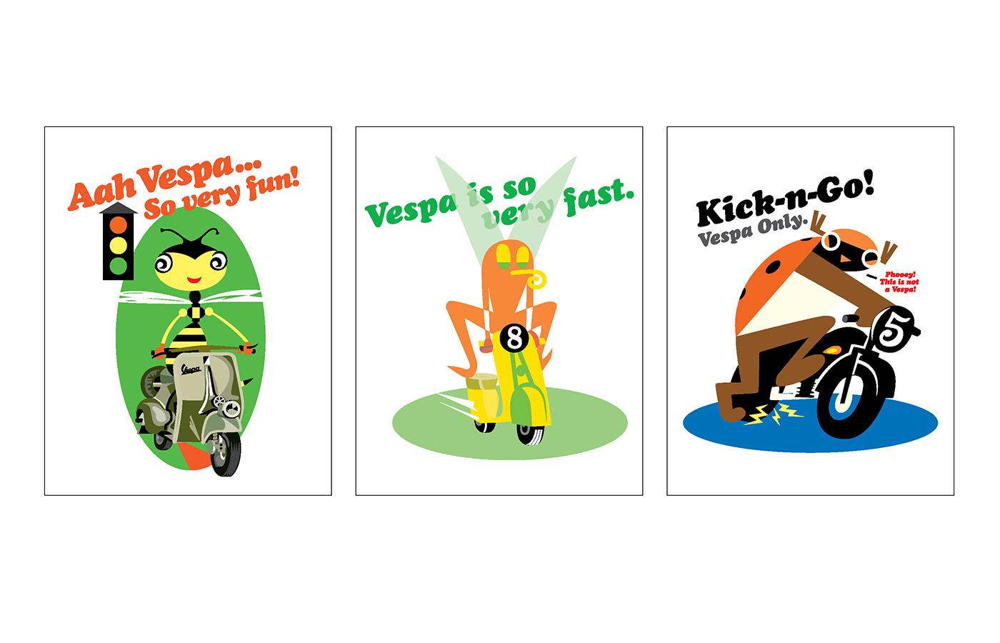 Vespa Motorscooters