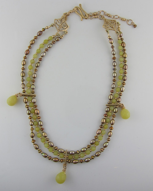 products necklaces bead gemstone laura gibson strand necklace enlarged jewelry briolette