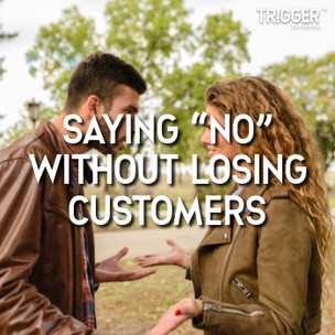 """We've all heard the sayings """"The Customer is King"""" and """"The Customer is Always Right"""" especially if your in the Service industry or your in Sales or in Customer Support.   But what should SME's do when customer expectations are unreasonable or just cannot be fulfilled? How do you say """"No"""" without Losing their Business or Upsetting the Customer? How can you stop yourself """"Worrying"""" and begin to love saying """"No""""?  Click the link below to find out how you can navigate customer expectations, demands or even threats to saying """"NO"""" and still WIN with your customer."""