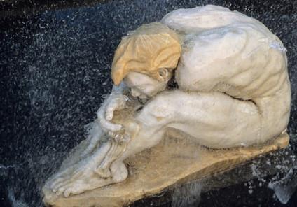 Narcisse, fontaine, marbre blanc de Carr