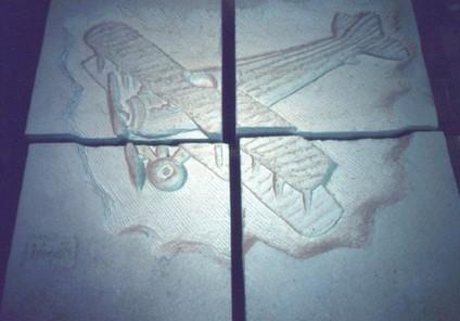 Avion en pierre du Cmdt Marzac, Base aér