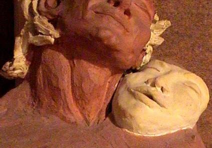 Rêve d'Orphée, argile, 2 couleurs.JPG