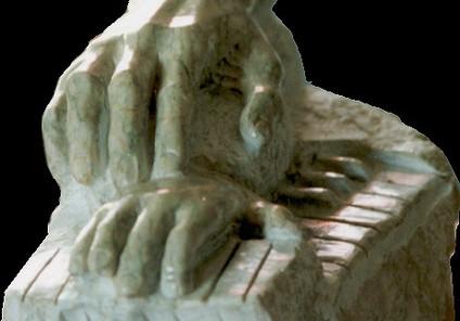 Première leçon de piano, marbre de payol