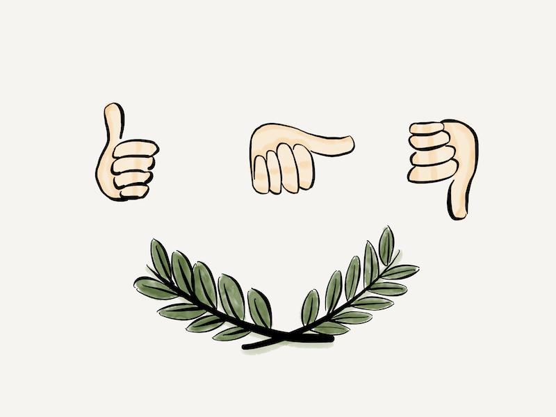Scrum Roman Voting thumbs