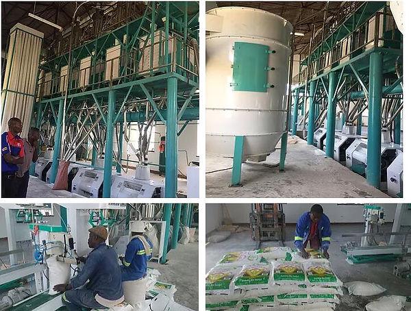 máquinas de moagem de farinha de milho.j