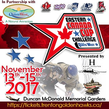 TRENTON TO HOST EASTERN CANADA CUP CHALLENGE