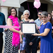 Grand Opening Plaque presentation by the Stone Oak Ladies Business Association.  June 2021.