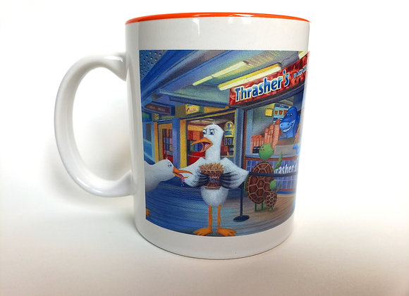 """Feathers Off My Fries"" Mug"